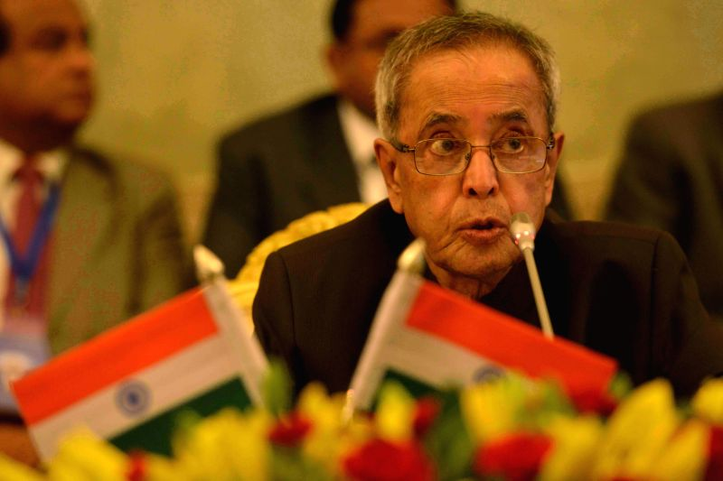President Pranab Mukherjee addresses during the conference of `Vice Chancellors of Central Universities` at Rashtrapati Bhavan in New Delhi, on Feb 4, 2015. - Pranab Mukherjee