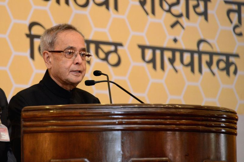 President Pranab Mukherjee addresses during a programme organised to present the 8th National Biennial Award for Grassroots Innovations and outstanding Traditional Knowledge at the ... - Pranab Mukherjee