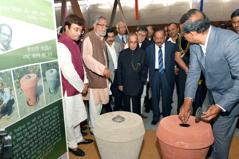 President Pranab Mukherjee during his visit to Innovation Exhibition, at Rashtrapati Bhavan, in New Delhi on March 7, 2015. - Pranab Mukherjee