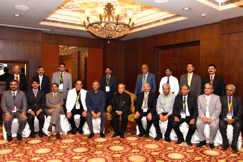 President Pranab Mukherjee during the inaugural ceremony of the National Intervention Council (NIC - 2015) meeting of the Cardiological Society of India in New Delhi, on April 4, 2015.