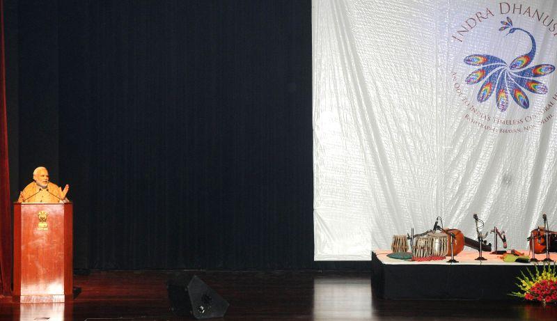 Prime Minister Narendra Modi addresses at the inauguration ceremony of the Ceremonial Hall, at the President`s Estate, in New Delhi on Dec 12, 2014. - Narendra Modi