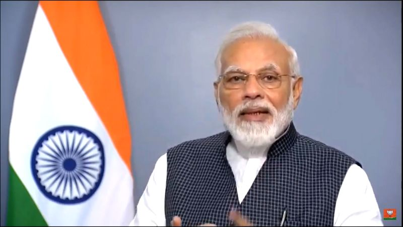 New Delhi: Prime Minister Narendra Modi addresses the nation after the government altered the special status of Jammu and Kashmir in New Delhi on Aug 8, 2019.