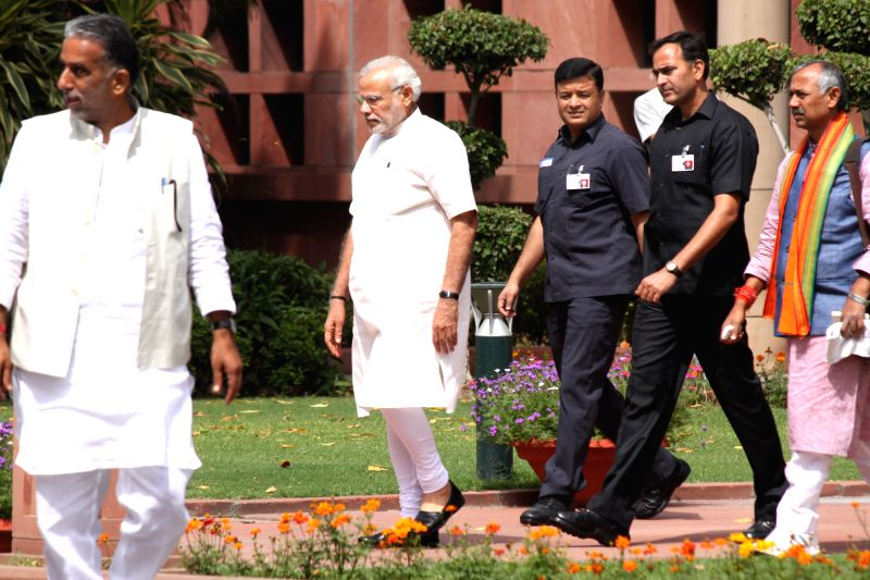 Prime Minister Narendra Modi at the Parliament House on April 21, 2015. - Narendra Modi