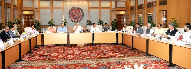 Prime Minister Narendra Modi chairing the meeting of National Ganga River Basin Authority, in New Delhi on March 26, 2015. - Narendra Modi