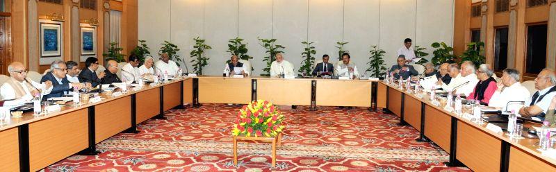 Prime Minister Narendra Modi chairs the 41st AGM of Nehru Memorial Museum and Library (NMML) Society, in New Delhi on April 28, 2015. - Narendra Modi