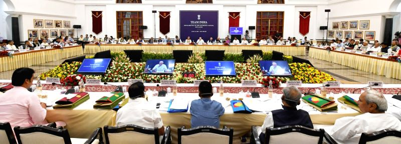 New Delhi: Prime Minister Narendra Modi chairs the fifth meeting of the Governing Council of NITI Aayog, in New Delhi on June 15, 2019. (Photo: IANS/PIB)