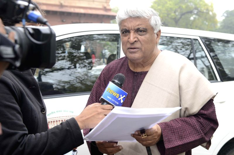 Rajya Sabha MP Javed Akhtar at the Parliament in New Delhi, on March 3, 2015.