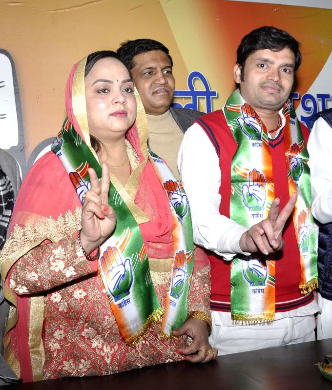 Rambir Shokeen, who was the the independent MLA in the fifth Delhi Assembly joins Congress in New Delhi, on Jan 11, 2015.
