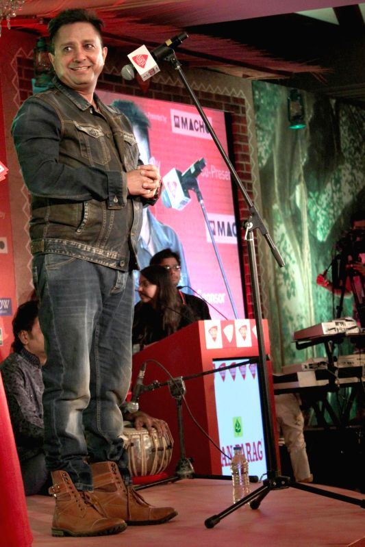 Singer Sukhwinder Singh during a programme organised by Aaj Tak in New Delhi, on Dec 12, 2014.  - Sukhwinder Singh