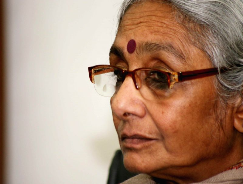 Social activist Aruna Roy addresses at the launch of  `The Indian Journal Of Law & Public Policy` at Jamia Millia Islamia in New Delhi, on March 2, 2015. - Aruna Roy