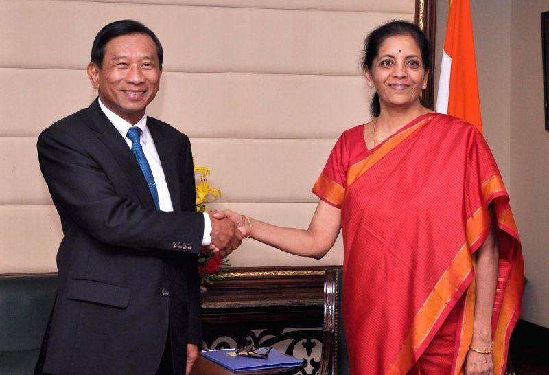 Thailand Commerce Minister General Chatchai Sarikulya calls on Union Minister of State for Commerce and Industry (Independent Charge) Nirmala Sitharaman in New Delhi, on Feb 27, 2015. - General Chatchai Sarikulya
