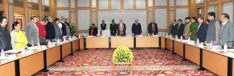 The Cabinet pays homage to the victims of Assam violence, in New Delhi on December 24, 2014.