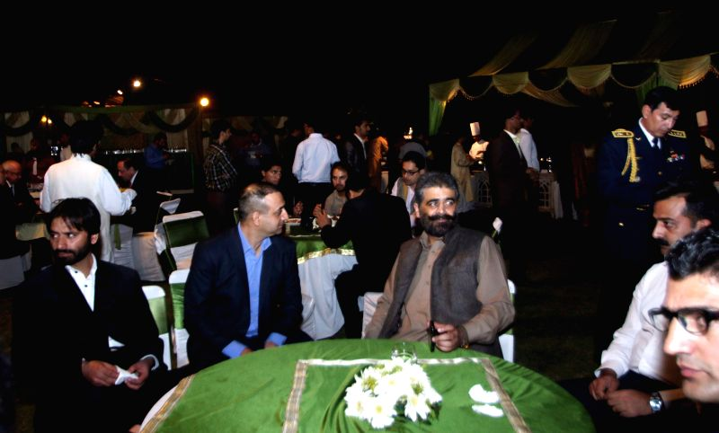 The Chairman of Jammu and Kashmir Liberation Front (JKLF), Muhammad Yasin Malik and others during a programme organised at the Pakistan High Commission on Pakistan National Day, in New ... - Malik