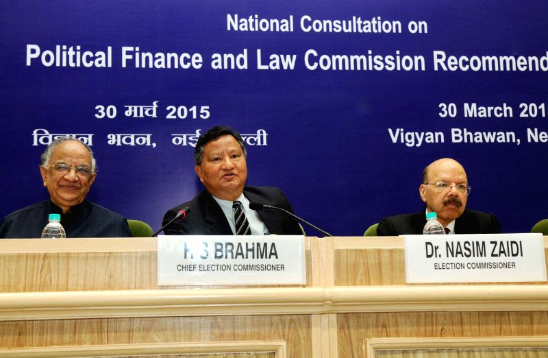 The Chief Election Commissioner H.S. Brahma addresses at the Concluding Session of National Consultation on Political Finance and Law Commission Recommendations, organised by the Election ...