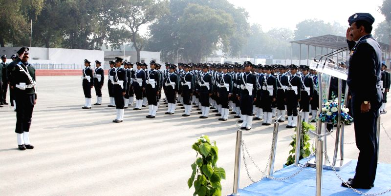 The Chief of the Air Staff, Air Chief Marshal Arup Raha during the Republic Day rehearsals of Indian Air Force Republic Day Parade Marching Contingent 2015 in New Delhi, on Jan 19, 2015.