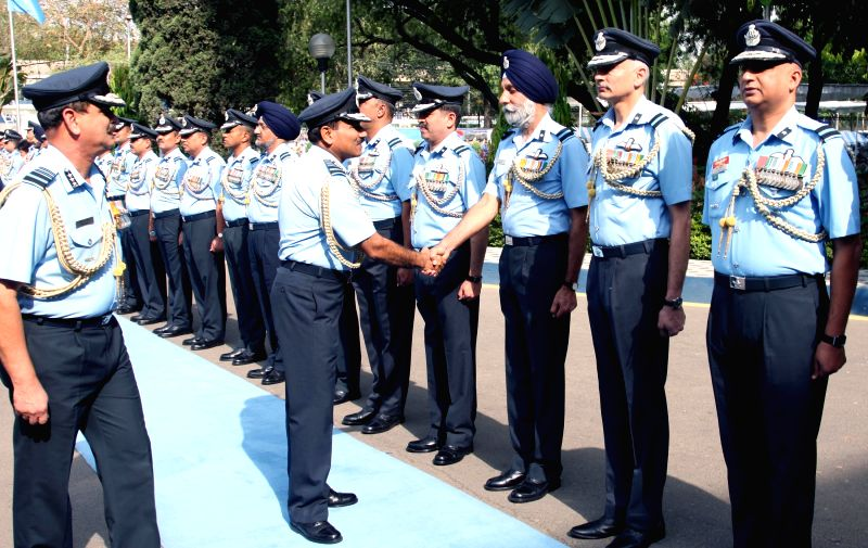The Chief of the Air Staff, Air Chief Marshal Arup Raha during the Annual Commanders' Conference of Western Air Command, in New Delhi on April 28, 2015.