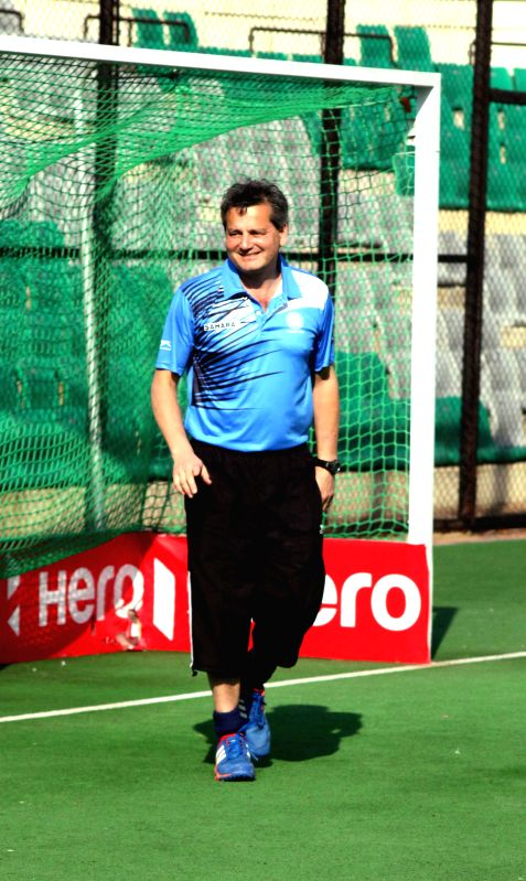 The coach of India hockey team (men) Paul Van Ass at Major Dhyan Chand National Stadium in New Delhi on March 18, 2015.