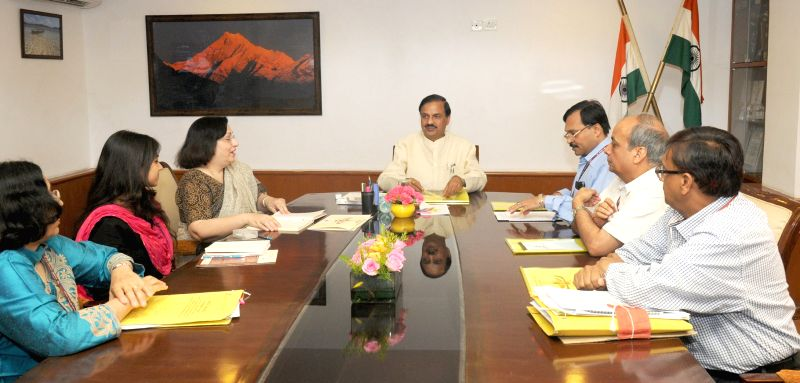 The Director of UNESCO's Parzor Project, Dr. Shernaz Cama meets the Union Minister of State for Culture (Independent Charge), Tourism (Independent Charge) and Civil Aviation, Dr. Mahesh ...