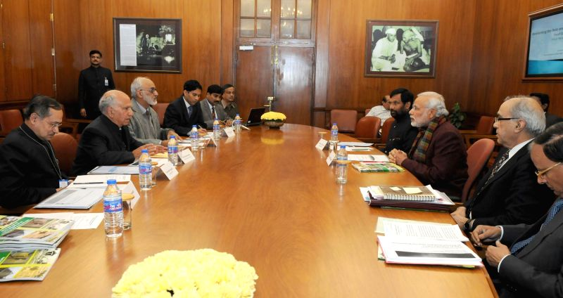 The High Level Committee for Restructuring of FCI submits its report to Prime Minister Narendra Modi, in New Delhi on Jan 21, 2015. - Narendra Modi