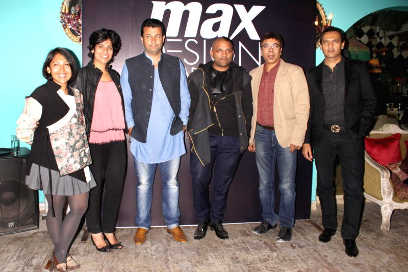 The jury members of Max Design Awards 2014 Ashish Soni, Gaurav Gupta, Marc Robinson, Malini Banerjee and President, Max Fashion Shekar CS during a press meet, in New Delhi on Nov 18, 2014. - Gaurav Gupta and Malini Banerjee