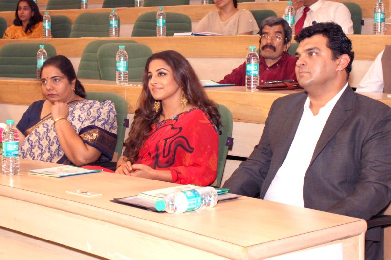 The MD of Studios, Disney UTV, Siddharth Roy Kapur with actress and his wife Vidya Balan during `Friends For Change` - an innovative inter-school volunteering program in New Delhi on Feb ...