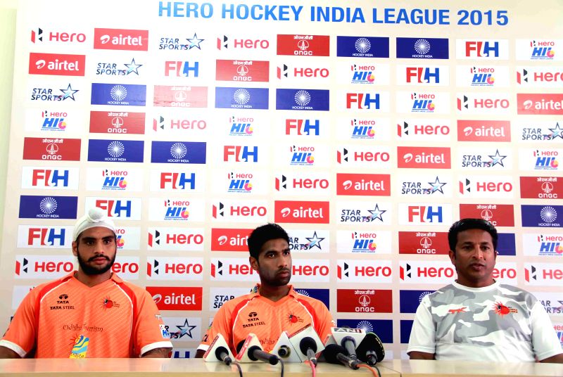 The members of Ranchi Rays address a press conference in New Delhi on Jan 21, 2015.