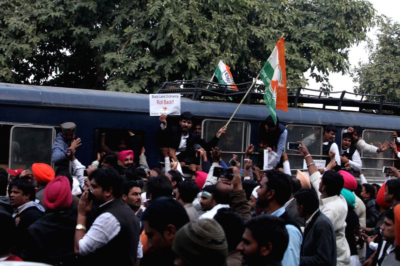 The newly elected president of Indian Youth Congress Amrinder Singh after his appointment in New Delhi, on Jan 5, 2015.