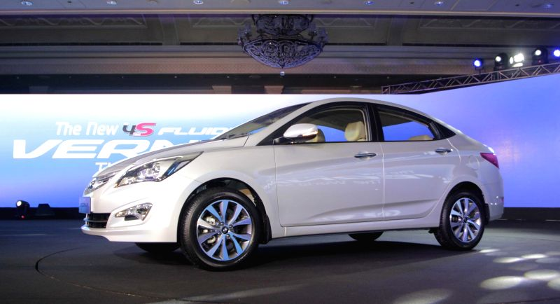 The newly launched 4S Fluidic Verna in New Delhi on Feb 18, 2015.