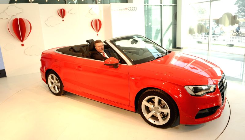 The newly launched Audi A3 Cabriolet in New Delhi, on Dec 11, 2014.