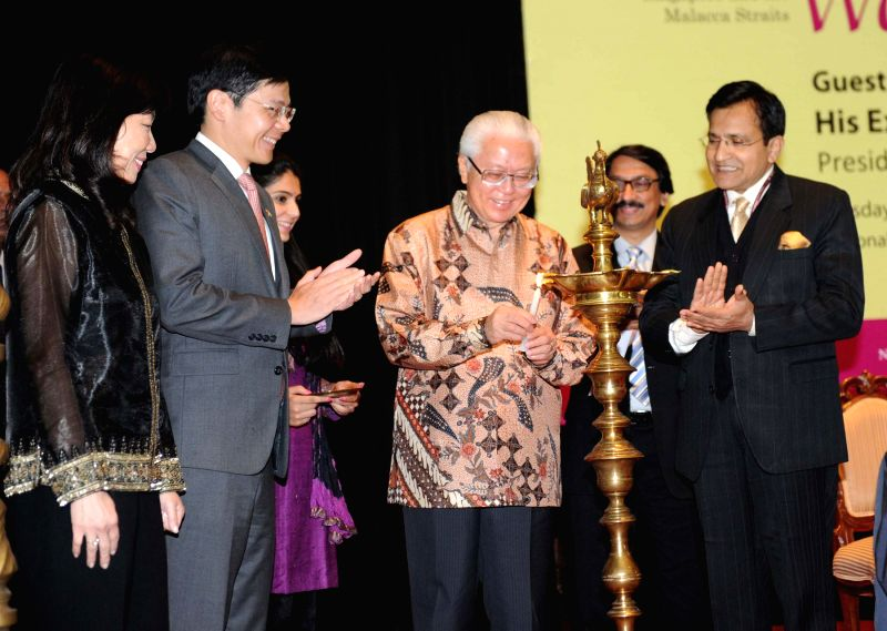 The President of the Republic of Singapore Dr. Tony Tan Keng Yam at the inauguration of `The Peranakan World - Cross Cultural Art from Singapore and the Malacca Straits` - an exhibition, ..