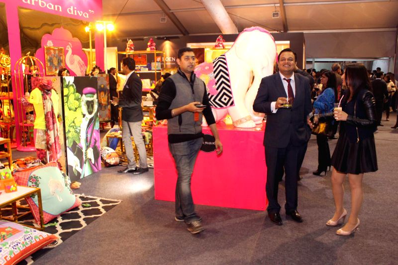 The preview of India Design ID 2015  show at NSIC Exhibition Grounds in New Delhi on Feb 12,2015.