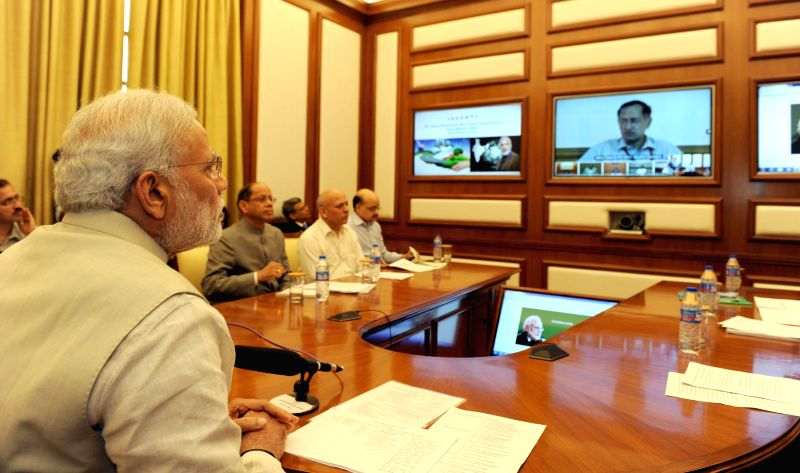 The Prime Minister Narendra Modi launches PRAGATI: a multi-purpose, multi-modal platform for Pro-Active Governance and Timely Implementation, in New Delhi on March 25, 2015. - Narendra Modi