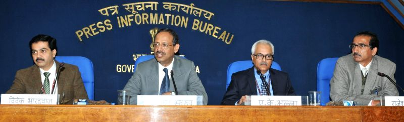 The Secretary, Ministry of Coal, Anil Swarup addresses a press conference regarding the allocation/auction of coal blocks in New Delhi on Jan 21, 2015.