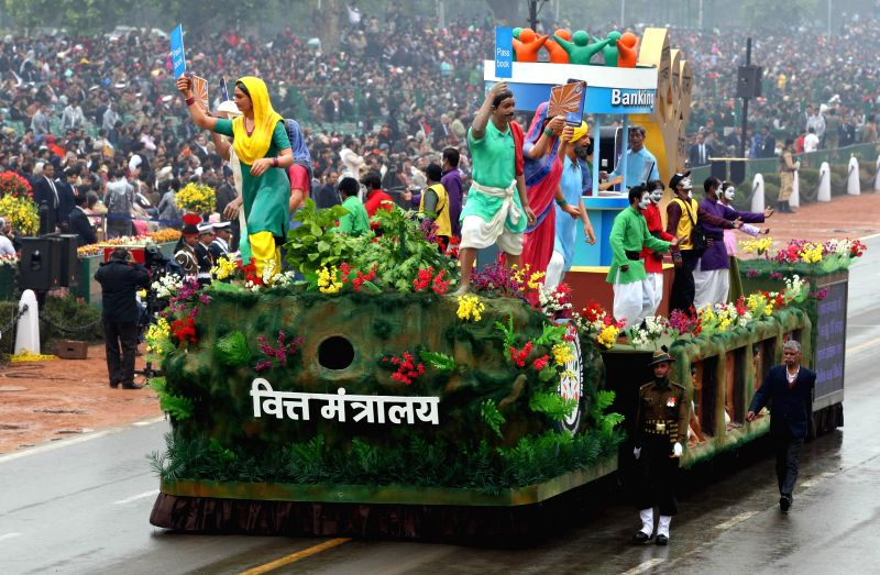 The tableau of Goa during Republic Day celebrations at Rajpath in New Delhi, on Jan 26, 2015.