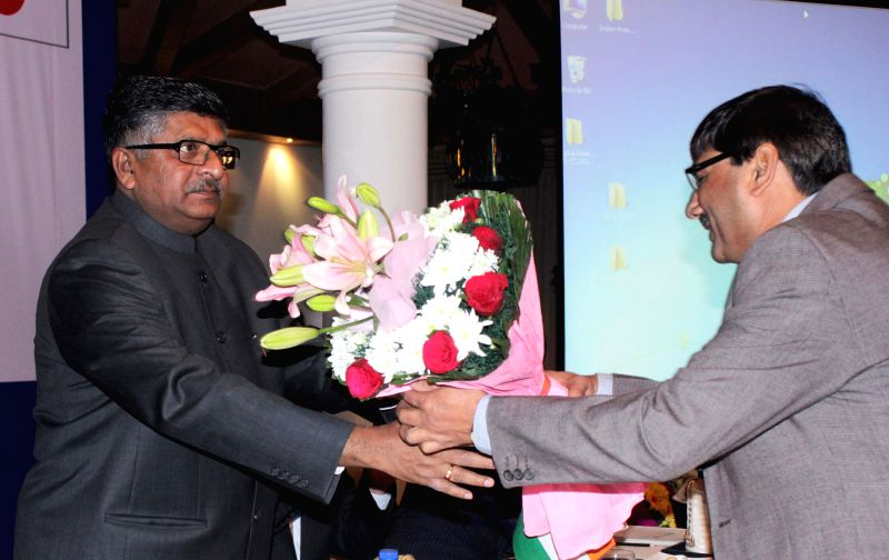 The Union Minister for Communications and Information Technology Ravi Shankar Prasad being welcomed during the 2nd India-Japan Joint Working Group Meeting under India-Japan ICT ...