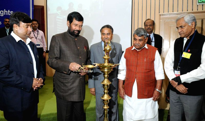The Union Minister for Consumer Affairs, Food and Public Distribution, Ram Vilas Paswan  at the inauguration of a national conference on Consumer Rights, in New Delhi on March 18, 2015.