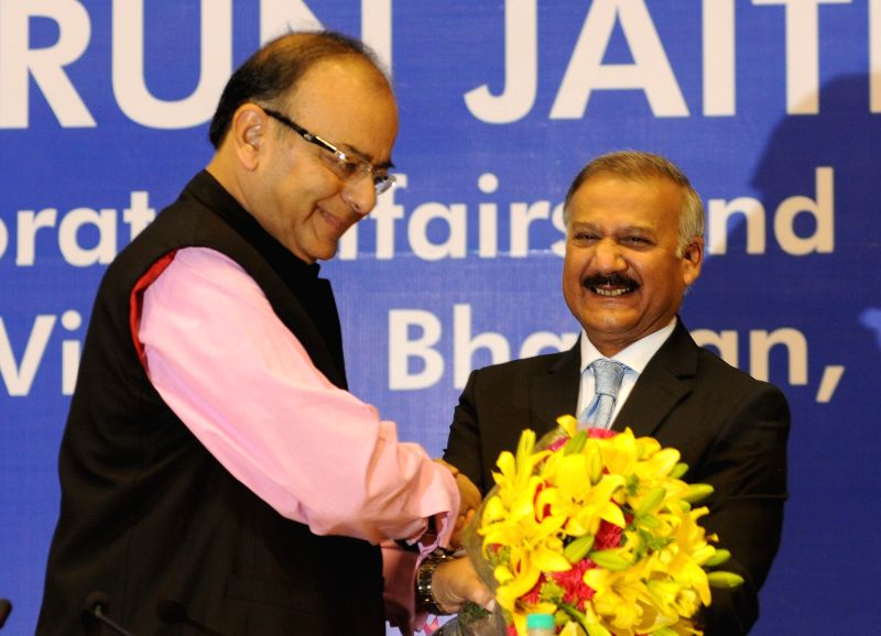 The Union Minister for Finance, Corporate Affairs and Information and Broadcasting Arun Jaitley during the 16th D P Kohli Memorial Lecture on `Economic Challenges for an Aspirational ... - Arun Jaitley