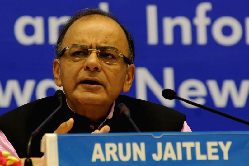 The Union Minister for Finance, Corporate Affairs and Information and Broadcasting Arun Jaitley addresses during the 16th D P Kohli Memorial Lecture on `Economic Challenges for an ... - Arun Jaitley