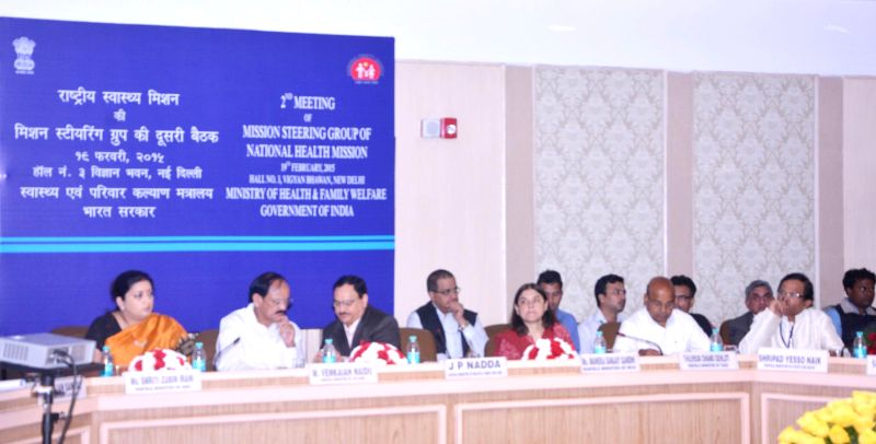 The Union Minister for Health and Family Welfare Jagat Prakash Nadda chairs the meeting of the 2nd Mission Steering Group (MSG) of the National Health Mission (NHM), in New Delhi on Feb ... - M. Venkaiah Naidu