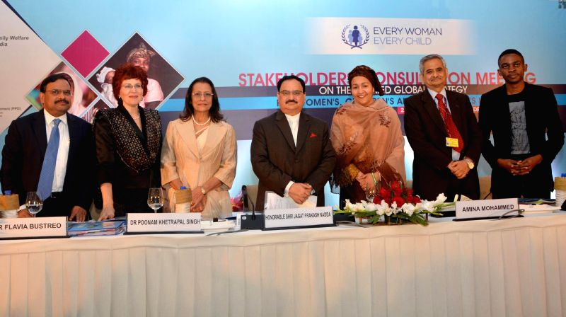 The Union Minister for Health and Family Welfare Jagat Prakash Nadda at the inauguration of the Global Stakeholders Consultation Meeting on the Updated Global Strategy for Women's, ... - Poonam Khetrapal Singh and P. Sharma