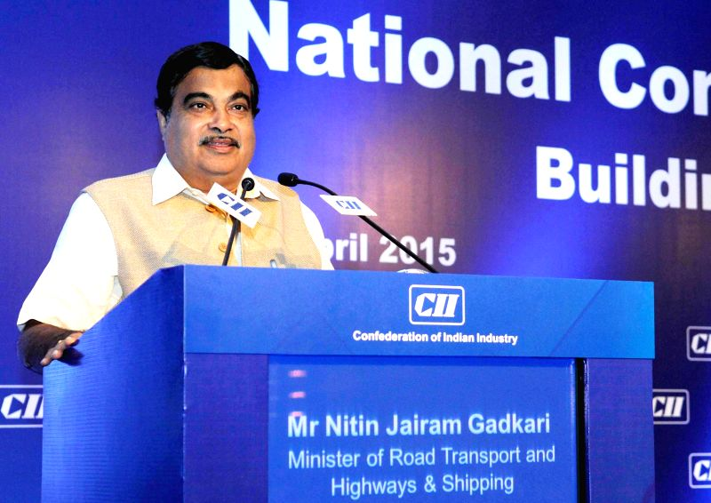 The Union Minister for Road Transport and Highways, and Shipping Nitin Gadkari addresses on ``Building India : A Shared Responsibility``, at CII's Annual Session -` Building India : A ...