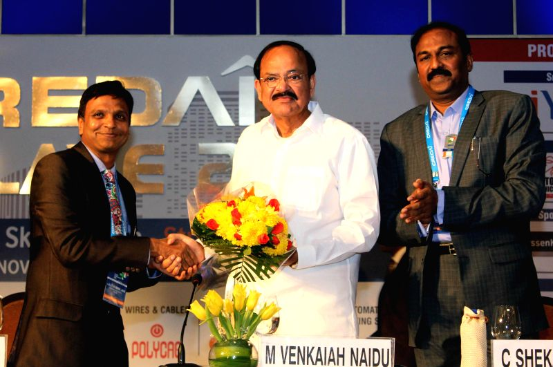 The Union Minister for Urban Development, Housing and Urban Poverty Alleviation and Parliamentary Affairs, M. Venkaiah Naidu during inauguration of Confederation of Real Estate Developers - M. Venkaiah Naidu