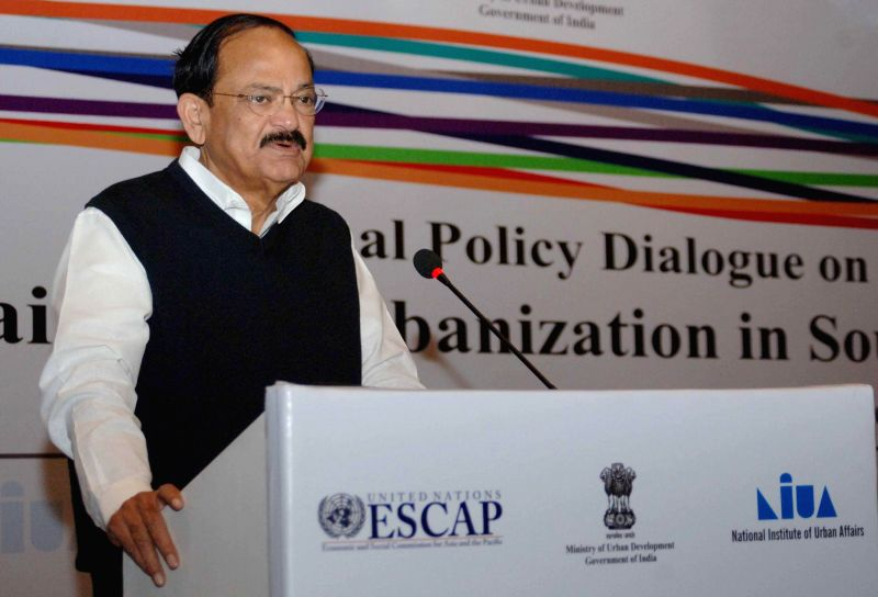 The Union Minister for Urban Development, Housing and Urban Poverty Alleviation and Parliamentary Affairs, M. Venkaiah Naidu delivers the inaugural address at the Regional Policy Dialogue . - M. Venkaiah Naidu