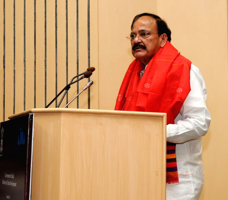 The Union Minister for Urban Development, Housing and Urban Poverty Alleviation and Parliamentary Affairs, M. Venkaiah Naidu addresses at the launch of the Heritage City Development and ... - M. Venkaiah Naidu