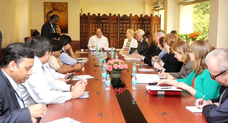 The Union Minister for Urban Development, Housing and Urban Poverty Alleviation and Parliamentary Affairs, M. Venkaiah Naidu meets the Minister for Infrastructure of Sweden, Anna ... - M. Venkaiah Naidu
