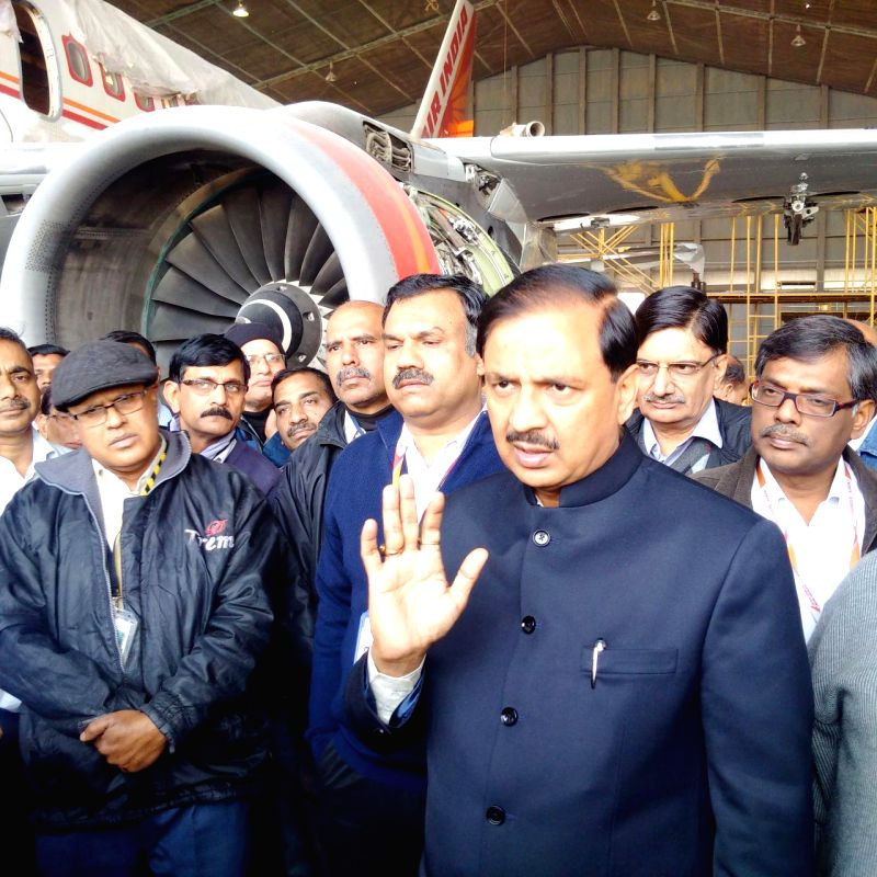 The Union Minister of State for Culture (Independent Charge), Tourism (Independent Charge) and Civil Aviation, Dr. Mahesh Sharma visits the Air India hangar, at Indira Gandhi International