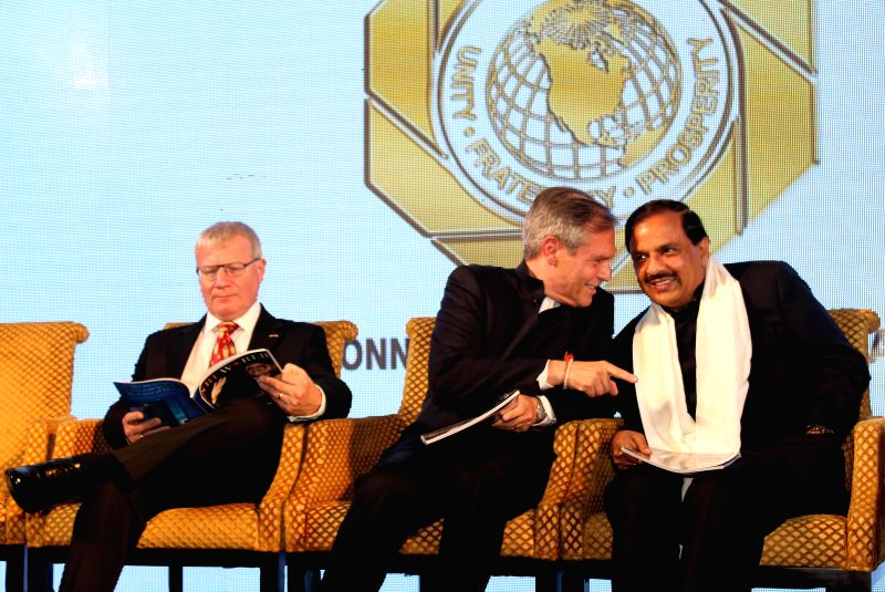 The Union Minister of State for Culture (Independent Charge), Tourism (Independent Charge) and Civil Aviation, Dr. Mahesh Sharma with German Ambassador to India Michael Steiner and British - Mahesh Sharma