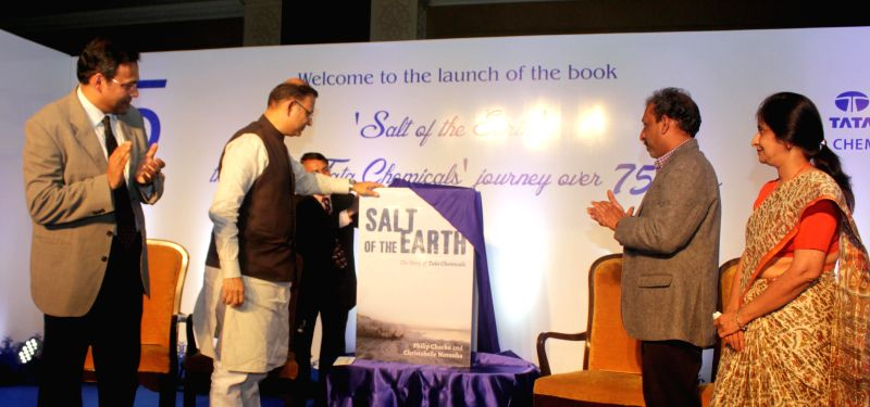 The Union Minister of State for Finance Jayant Sinha at the launch of book `Salt of the Earth` by Tata Chemicals Limited, in New Delhi on Jan. 7, 2014. - Jayant Sinha