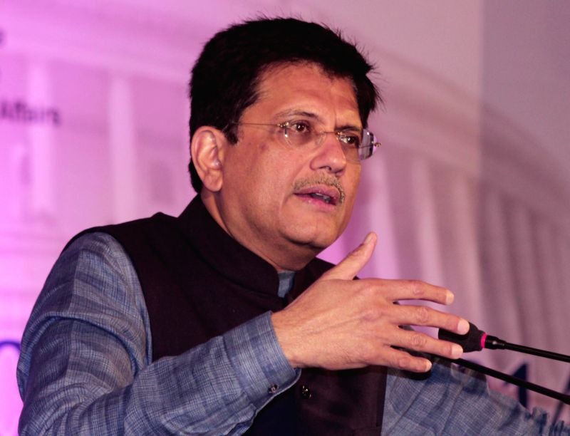The Union Minister of State (Independent Charge) for Power, Coal and New and Renewable Energy, Piyush Goyal addresses at the inauguration of the two-day `Delhi Economics Conclave 2014`, in