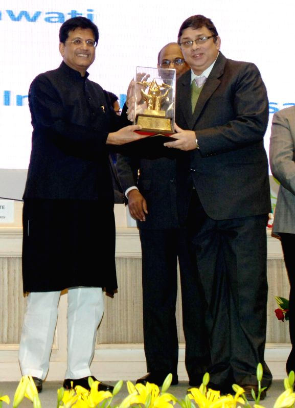 The Union Minister of State (Independent Charge) for Power, Coal and New and Renewable Energy Piyush Goyal presents the National Energy Conservation Award, at the National Energy ...